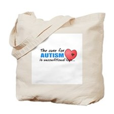 The Cure for Autism is Tote Bag