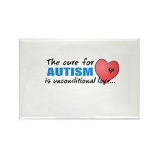 The Cure for Autism is Rectangle Magnet