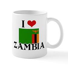 I HEART ZAMBIA FLAG Mug