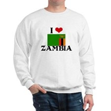 I HEART ZAMBIA FLAG Sweatshirt