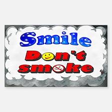 Smile Don't Smoke Rectangle Decal