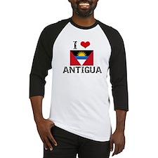 I HEART ANTIGUA FLAG Baseball Jersey