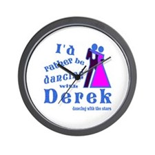 Dancing With Derek Wall Clock