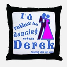 Dancing With Derek Throw Pillow
