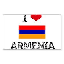 I HEART ARMENIA FLAG Decal