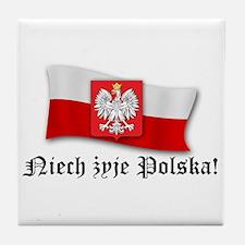 Poland flag and arms Tile Coaster