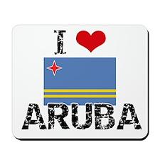 I HEART ARUBA FLAG Mousepad