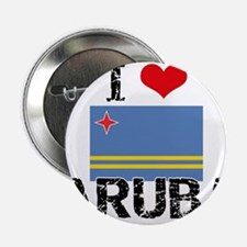 "I HEART ARUBA FLAG 2.25"" Button"