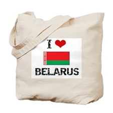 I HEART BELARUS FLAG Tote Bag