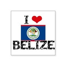 I HEART BELIZE FLAG Sticker
