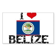 I HEART BELIZE FLAG Decal