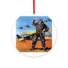 WWI Aviation Ornament (Round)