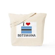 I HEART BOTSWANA FLAG Tote Bag