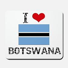 I HEART BOTSWANA FLAG Mousepad