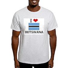I HEART BOTSWANA FLAG T-Shirt