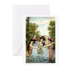 Bathing Beauties #2 Greeting Cards (Pk of 10)