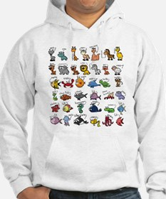 Silly Zoo Animals Hoodie