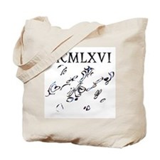 MCMLXVI, 1966, Roman Numerals Tote Bag