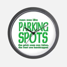 Like PARKING SPOTS Wall Clock