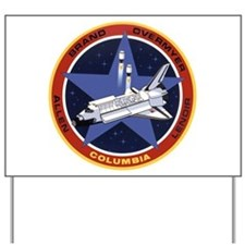 STS-5 Columbia Yard Sign