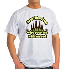 2-Save the Trees- Green Dark Brown T-Shirt