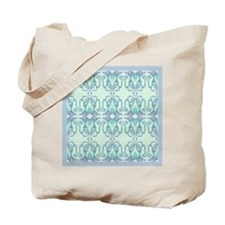 Blue 'Victorian Easter Illusion' Tote Bag