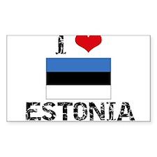 I HEART ESTONIA FLAG Decal