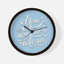 Not Alone Wall Clock