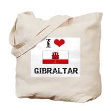 I HEART GIBRALTAR FLAG Tote Bag