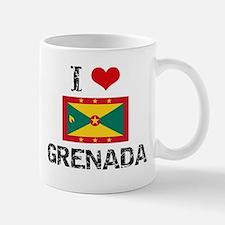 I HEART GRENADA FLAG Mug
