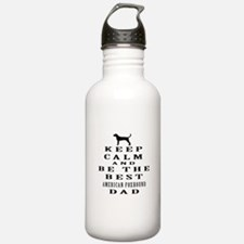 Keep Calm American foxhound Designs Water Bottle