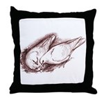 Nesting Pigeons Throw Pillow