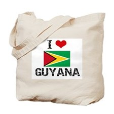 I HEART GUYANA FLAG Tote Bag