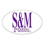 S&M Oval Sticker