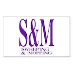 S&M Rectangle Sticker
