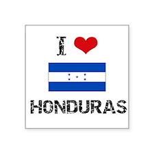 I HEART HONDURAS FLAG Sticker