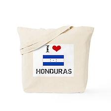 I HEART HONDURAS FLAG Tote Bag
