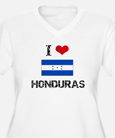 I HEART HONDURAS FLAG Plus Size T-Shirt