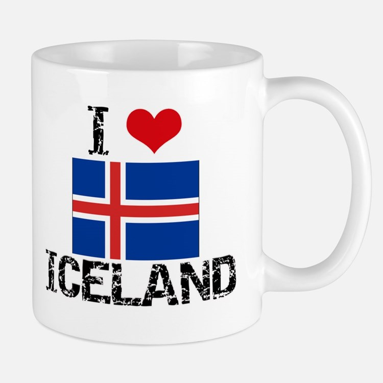 I HEART ICELAND FLAG Mug