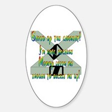Saved by the Carseat! Oval Decal