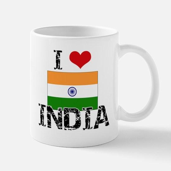 I HEART INDIA FLAG Mug