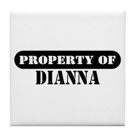 Property of Dianna Tile Coaster