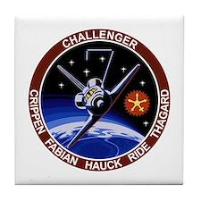 STS 7 Challenger Tile Coaster