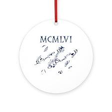 MCMLVI, 1956, Roman Numerals Ornament (Round)