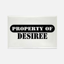 Property of Desiree Rectangle Magnet
