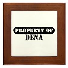 Property of Dena Framed Tile