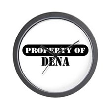 Property of Dena Wall Clock