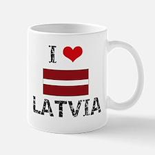 I HEART LATVIA FLAG Mug