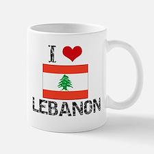 I HEART LEBANON FLAG Small Small Mug