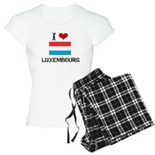 I HEART LUXEMBOURG FLAG Pajamas